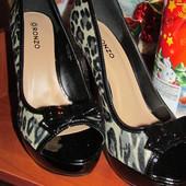 Стильно! Модельные туфли на высоком каблуке, модный принт. читаем описание