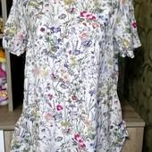 Собираем лоты!! Нежная блуза в цветах, размер s-m