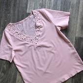 Крутая блуза с жемчугом!!! Смотрите замеры