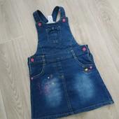 Классный джинсовый сарафан на возраст 2-3 года