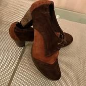 Zign! Актуальная модель! Осенние туфли! Состояние+! Натуральные замша и кожа! Р. 40 / стелька 26см!