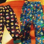 Пижамные штанишки яркие на выбор: в лоте одни! На 2-3 и 3-4 года