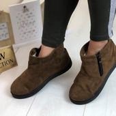 Женские теплые ботиночки. Очень удобные!!