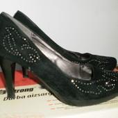 Женские замшевые туфельки, 38 р.-24,5 см