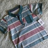 Нарядная футболка поло для мальчика 3-4годика