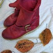 Кожаные деми-ботинки-сапожки, в идеале, р. 37