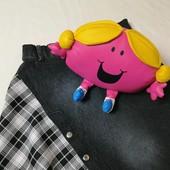 ЛоВиЛоТы! джинсовая комбинированная юбочка, на 7-10 лет