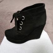 Стильные замшевые ботинки)