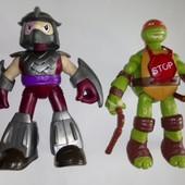 2 игрушки ТМNТ одним лотом, оригиналы, 15 см