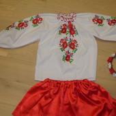 Яркий красивенный комплект вышиванка на 104-116