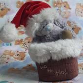 Новогодний Мишка тедди me to you новор мішка тедді в комині ведмедик медведь me to you carte blanche
