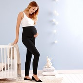 Леггинсы для беременных из хлопка Tchibo(германия) , черные размер 40 евро=46-48