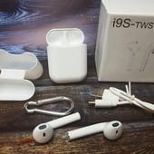 Беспроводные наушники в кейсе i9s-tws 5.0 io bluetooth гарнитура беспроводные навушники і гарнітур