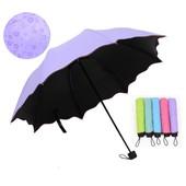 Новинка!!Женский зонт с проявляющимся рисунком на 8 спиц,мех. Очень красивый,яркий!