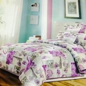 Бязевый семейный постельный комплект с двумя пододеяльниками 80%хлопок, 20%полиэстер..много расцвето