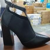 Последний размер 37 Туфли резинка Стильная модель Каблук 9 см
