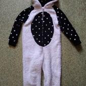 Тёплый меховой кигуруми Панда для дома или сна на 4-5 лет!