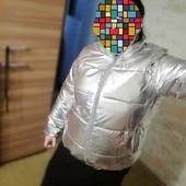 Куртка серебро 2xl,3xl, 4xl