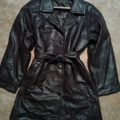 Натуральная кожаная курточка-тренч