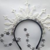 Ободок обруч снежинка сніжинка зима разные