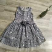 Платье пайетка на девочку 3-5 лет