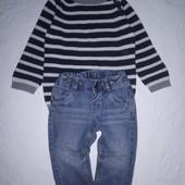 Шикарный стильный лук на мальчика : свитер и джинсы