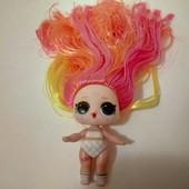 кукла лол , с волосами оригинал!меняет цвет!
