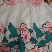 Чудесное штапельное платьице на маленькую модницу. До роста 122. См замеры.
