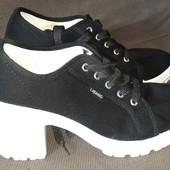 Модные туфли-кеды на холодную весну-теплую осень р.38, Стелька 24,5 см