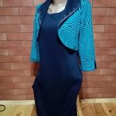 Шикарне, стильне плаття, болеро пришите, фірми MiZZ