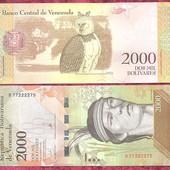 Венесуэла 2000 боливаров 2016 UNC