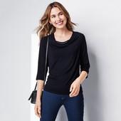 Стильна блуза необычным декольте от Tchibo(Германия), наши размеры: 54-56 (48/50 евро)
