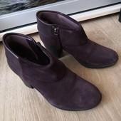 Шикарные натуралка английские ботиночки Clarks весна 23 см стелька