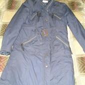 пальто демисезонное темно-синее р.38