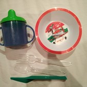 Лот детской посуды