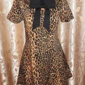 красивое леопардовое короткое платье