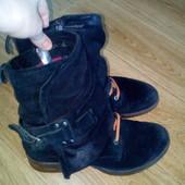 Замш натуральньій- MJUS. Стильньіе ботинки на весну.