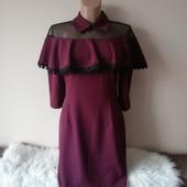 Шикарное нарядное платье с воланами 38р