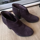 Шикарные натуралка английские ботиночки Clarks весна 23, 5 см стелька