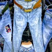 Новые нарядные турецкие джинсы, размер 30, XL, пот 37, поб 49