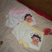 Качественные, мягкие трусики-шортики для девочки. 2 шт в лоте. на рост 100-110.