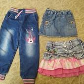 пакет одежи для дівчинки на 3-4р.