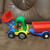 Машинка трактор-багги с ковшом и прицепом Wader Тигрес