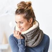 ☘ Теплый снуд-шарф с мягусеньким мехом от Tchibo(Германия), размер: универсальный