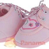 Светло-розовые пинетки Omnia на шнурках р. 19