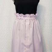Нежная коттоновая летняя юбка на пуговицах р44-46