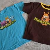 Две новые хлопковые футболки bonsticks на 122 рост, смотрите замеры. В лоте 2 штуки.