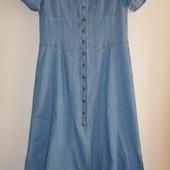 джинсовое платье-халат/макси ,отличн сост.,50/52 р,пог 55 см
