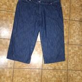 Классные лёгкие летние джинсовые бриджи р.18 пот 47 поб 62 Новое состояние Акция читайте