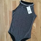 Блестящий боди блузка jennyfer размер s